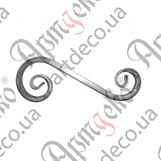 Завиток из трубы 455х170х20 - изображение