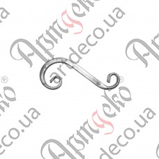 Завиток из трубы 300х120х20 - изображение