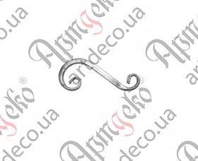 Кованый завиток из трубы 300х120х20 - изображение