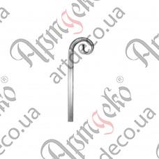 Завиток из трубы 340х100х20 - изображение